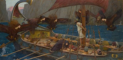 John William Waterhouse Giclee Canvas Print Paintings Poster Reproduction(Ulysses and the Sirens)