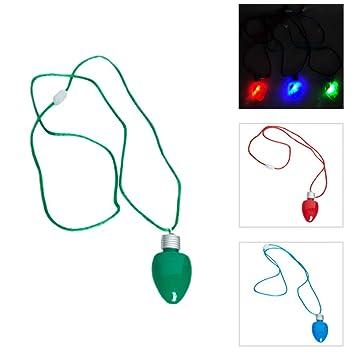 Light Up Christmas Bulb Necklace