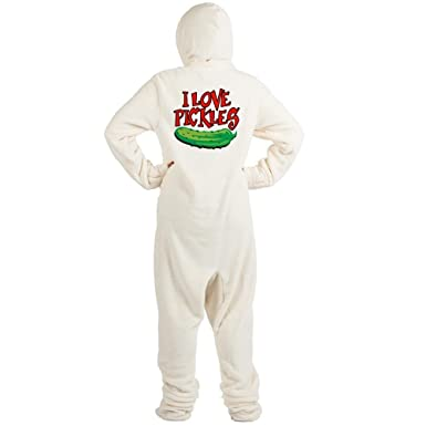 Amazon.com  CafePress - I-Love-Pickles - Novelty Footed Pajamas ... 76304a61b
