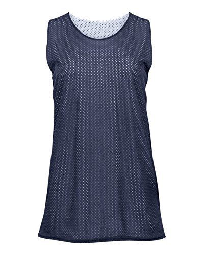 - Navy Blue/White Ladies Small Reversible Mesh Tank Top Jersey Uniform