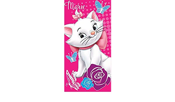 Disney Aristogatos - Marie: Ducha Toalla/toalla de baño/playa 100% algodón en rosa: Amazon.es: Hogar