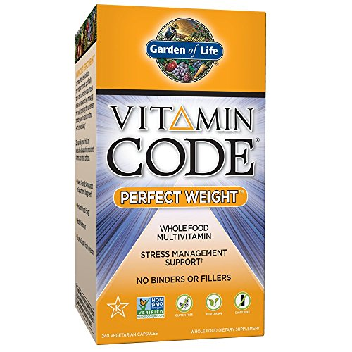 Garden of Life Multivitamin for Weight Management - Vitamin Code Perfect Weight Raw Whole Food Vitamin, Vegetarian Supplement, 240 Capsules (Code Vitamin One Raw)