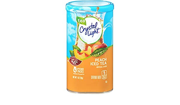 Crystal Light Peach Tea Drink Mix (8-Quart), 1.0-Ounce Packages (Pack of 4): Amazon.es: Alimentación y bebidas