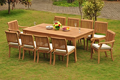 Grade-A Teak Wood Dining Set 10 Seater 11 Pc: 122