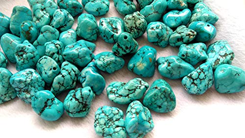 Large Hole -25-35mm Turquoise Stone Freeform Nuggets Cubic Rock Rough Turquoise cabochon -Pendant Jewelry Bead Handmade