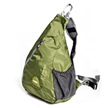 Caden Outdoor Packable Shoulder Backpack Lightweight Foldable Shoulder Backpack Sling Chest Crossbody Bags Pack for Men Women Outdoor Sports, Cycling, Hiking, Camping