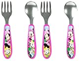 stainless flatware lot - The First Years Disney Easy Grasp Flatware - Minnie/Mickey - 2 Sets
