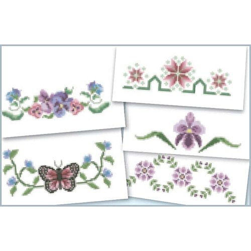 Herrschners® Garden Walk Dresser Scarf Assortment Stamped Cross-Stitch