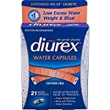 Diurex—Extended Relief Water Capsules—21 Capsules—Long-Lasting Relief of Water Weight Gain and Bloating Related to Menstruation Without the Caffeine