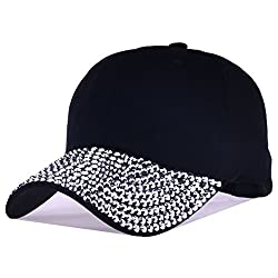 Rhinestone Crystals Studded Adjustable Baseball Cap