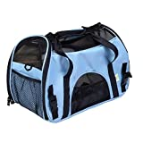 Pet Cuisine Breathable Soft-sided Pet Carrier, Cats Dogs Travel Crate Tote Portable Handbag Shoulder Bag Outdoor