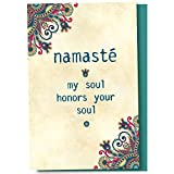 Tree-Free Greetings EcoNotes 12-Count Namaste Honor Blank Notecard Set With Envelopes, All Occasion, New Age Inspirational for Yoga Lovers (FS56948)