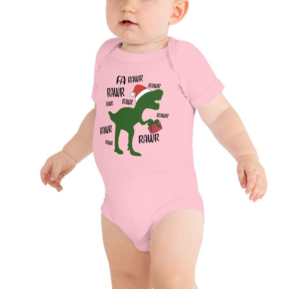 FA Rawr Rawr T Rex Dinosaur Christmas Baby Bodysuits Baby Shirt Matching Shirt