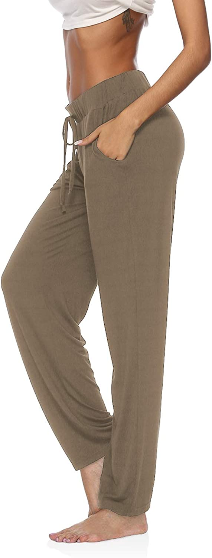 DIBAOLONG Womens Yoga Pants Wide Leg Comfy Drawstring Loose Straight Lounge Running Workout Legging: Clothing