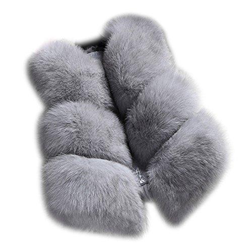 状況口述無線サクララ(Sakulala) レディース ファーコート 毛皮コート ベストファーベスト 可愛い 毛皮ベスト 上着 フェイクファーベスト 柔らかく ふわふわ 体型カバー 暖かさ 贅沢感 高級感 秋冬
