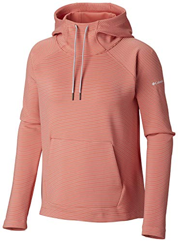 Columbia Women's Bryce Canyon Hoodie, Coral Bloom Stripe, Large