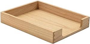 Kirigen Wood Letter-Size Tray Single-Tier (TP-NA)- Wooden Tones Collection Front-Load Documents Tray for Office Desktop Organizer - Desk Magazine, File, Folder, Paper Holder Natural