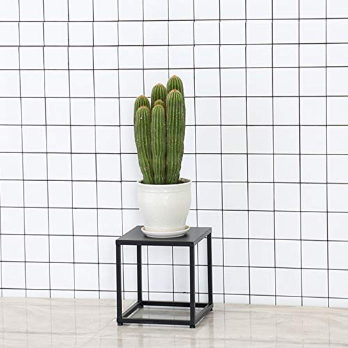 BENCONO Iron Flower Stand Turn Corner Flower Stand Living Room Indoor Flower Stand Simple Combination Flower Stand Black Flower Stand 3 Kinds of Height Optional (Size : 11.82x11.82x11.82) by BENCONO