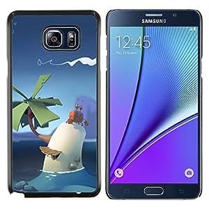 TECHCASE---Cubierta de la caja de protección para la piel dura ** Samsung Galaxy Note 5 ** --poli lindo arte palma cielo tropical niños pc