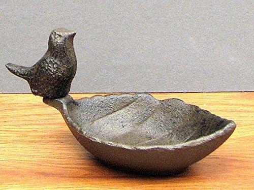 Iwgac 0184s-0173 cast iron leaf bird feeder