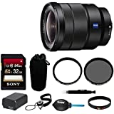 Sony Vario-Tessar T FE 16-35mm f/4 ZA OSS Lens w/Sony 32GB SD Card Bundle