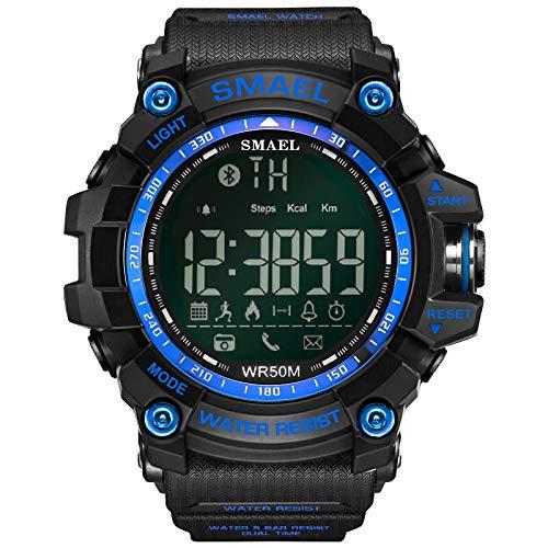 Wrist Watch for Men Under 10❤SMAEL Fashion Men's Smart Watch Bluetooth Digital Sports Wrist Watch Waterproof