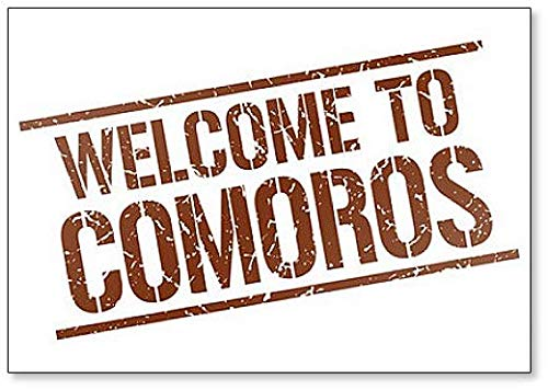 Welcome to Comoros Stamp Illustration Classic Fridge Magnet