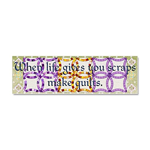 CafePress - Harvest Moons Double Wedding Rings Car Magnet 10 X - Car Magnet 10 x 3, Magnetic Bumper Sticker