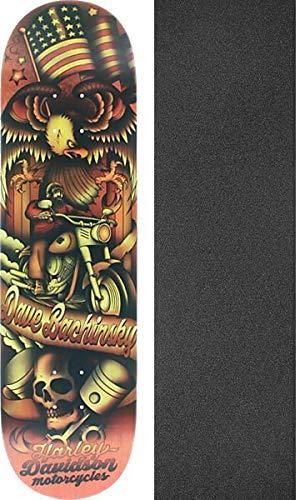 マイクロレンズ不機嫌そうなDarkstarスケートボードDave Bachinsky Tradition Harley DavidsonスケートボードDeck – 8.25