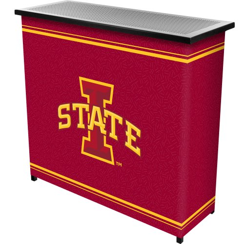 NCAA Iowa State University Two Shelf Portable Bar with Case by Trademark Gameroom