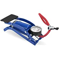 Zoomanu High Pressure Foot Pump with Pressure Gauge for Bike, Motorcycles, Bicycle,Car Tyres, Balls with Pressure Gauge