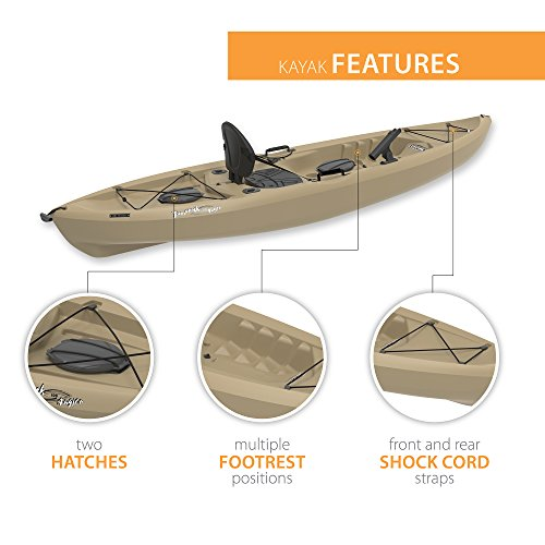 Lifetime Tamarack Sit-On-Top Kayak, Tan, 120""