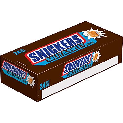 Snickers Salty & Sweet Chocolate Candy Single Size Bars, 1.82 Ounce (Pack of 24) (Bars Snickers)