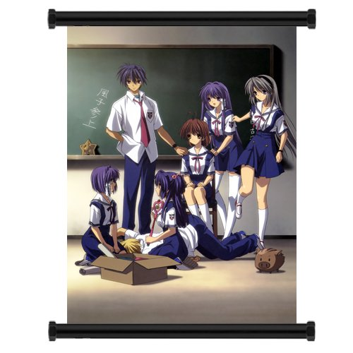 Clannad Anime Fabric Wall Scroll Poster  Inches