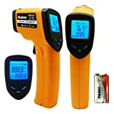 Nubee Non-Contact Digital Laser Infrared Thermometer Temperature Gun -58 °F - 1022°F(-50°C - 550°C) MAX Display, EMS Adjustable Function, Orange