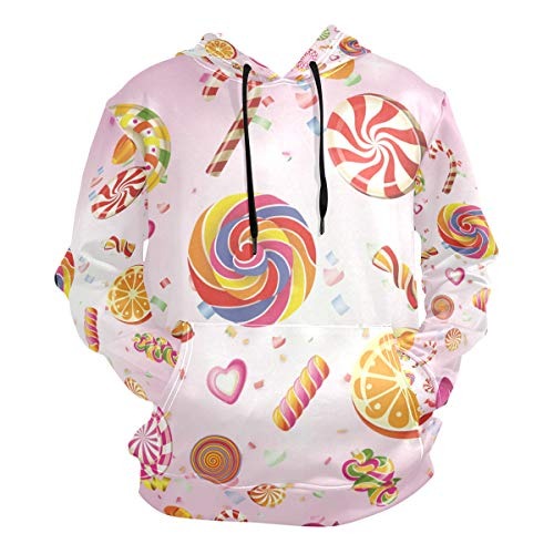 Lolly Pink Hoodie Hooded Athletic Sweatshirts 3D Print for Girls Boys Men(Health Fabric)