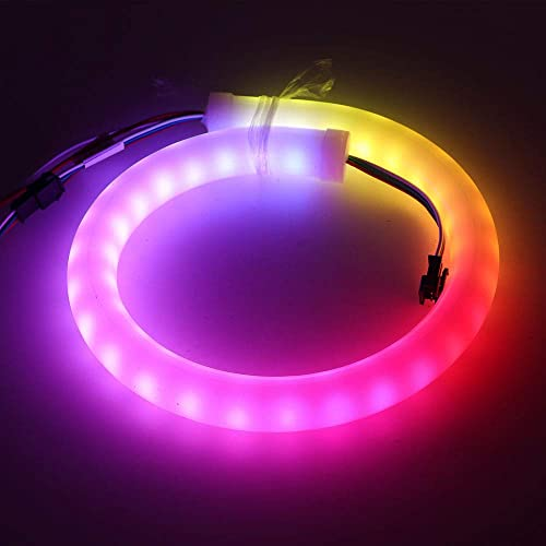 XUNATA RGB LED Neon Rope Light, 6.6ft Individually Addressable Smart Pixel SK6812 60 LEDs m Neon Sign, DC 5V Waterproof, Flexible Letter Bar Lamp Lights for Home Indoor Outdoor Decoration
