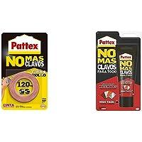 Pattex No Más Clavos Cinta, cinta adhesiva para aplicaciones permanentes + No Mas Clavos Para Todo HighTack Adhesivo de…