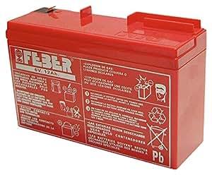 FEBER 800003103 - Batería recargable 6V-10Ah , Rojo