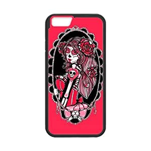 Day of the Dead Custom TPU Hard Rubber Case for iPhone6 (4.7inch) - Sugar Skull