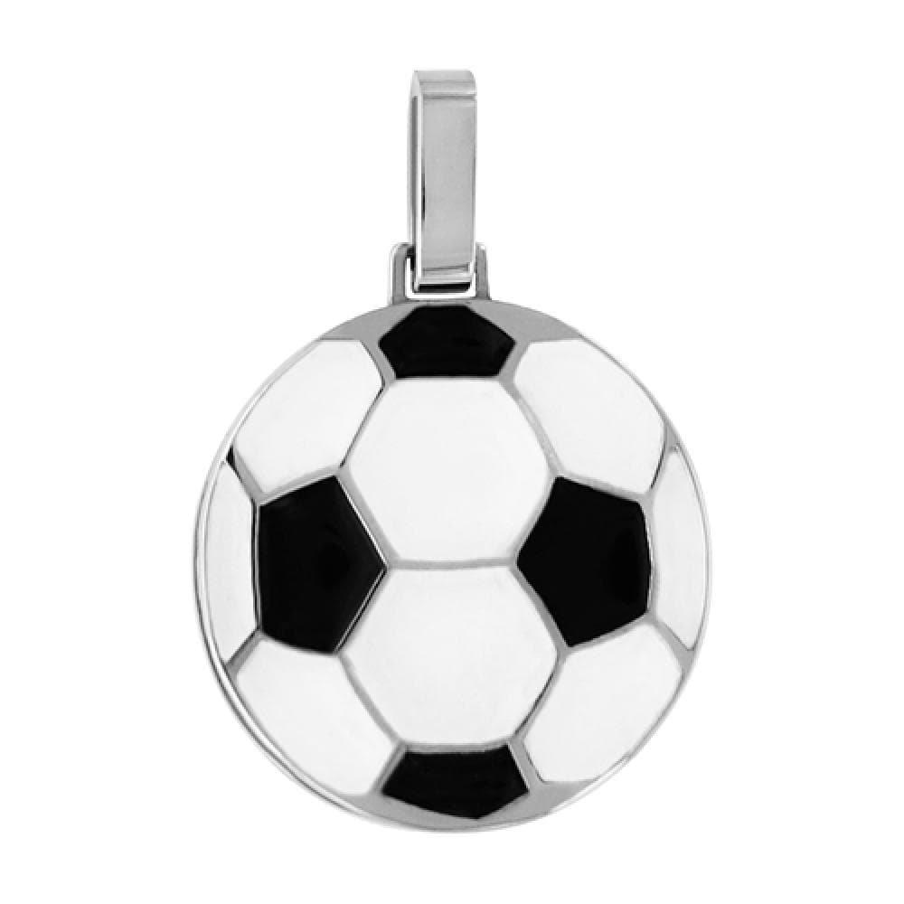 So Chic Joyas - Colgante Balón Fútbol Acero Inoxidable: Amazon.es ...