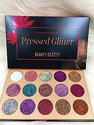 Beauty Glzaed Glitter Make-up Powder Metallic Shimmer Eye Shadow Palette Highly Pigmented Mineral Cosmetic Makeup Eyeshadow