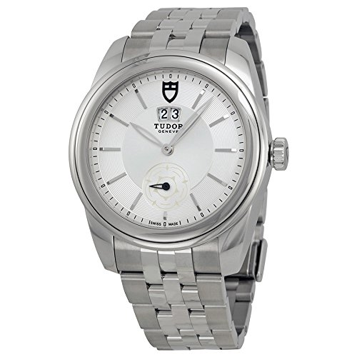 Tudor Glamour Mecánica Plata Dial Acero inoxidable Acero Reloj 57000-SVSS: Amazon.es: Relojes