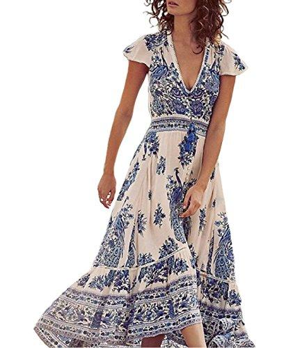 womens-summer-v-neck-boho-ethnic-chiffon-party-evening-cocktail-beach-dresses-elastic-long-dress-sun