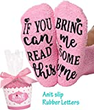 If You Can Read This Bring Me Some Wine Socks Fuzzy Novelty Socks Christmas Gift