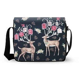 fashionable cute Sika deer Oxford Fabric Messenger Bag,Shoulder Bag