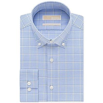 MICHAEL Michael Kors Mens Cotton Plaid Dress Shirt