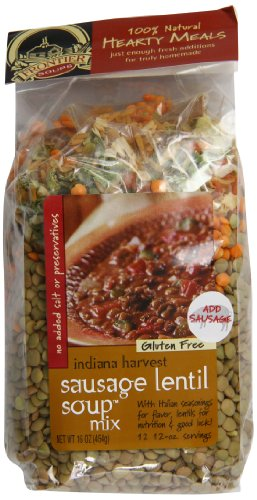 Frontier Soups Hearty Meals Indiana Harvest Sausage Lentil Soup Mix, 16 Ounce - Wine Basket Northwest