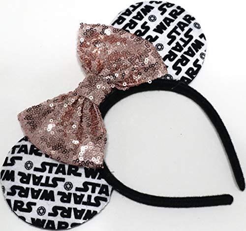 (CLGIFT Star Wars Ears, Star wars fan, Rose Gold Minnie Mouse Ears, Black Mouse Ears, Red Mouse Ears (rose)