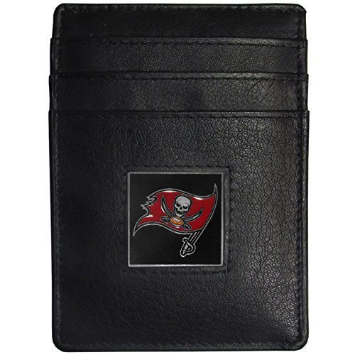 Tampa Bay Buccaneers Money Clip - NFL Tampa Bay Buccaneers Leather Money Clip Cardholder